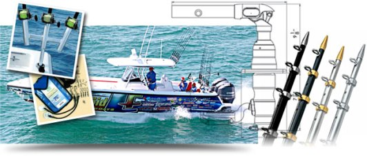 Help your sport fishing success with Taco Marine outriggers.