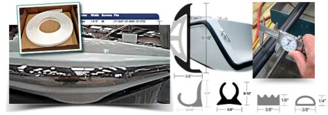 Taco Marine trim, molding and rub rail products.