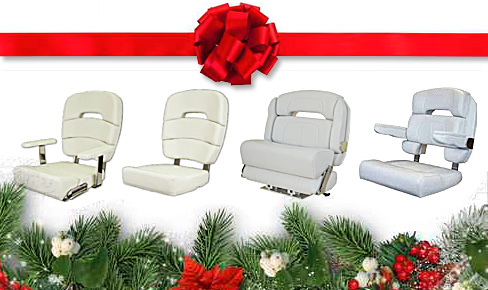 Helm chairs for boats at Christmas