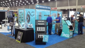 Taco Marine boat show booth