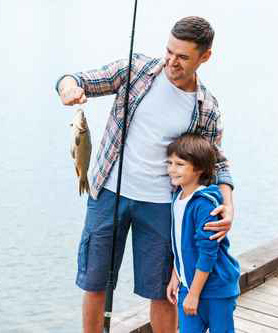 Father and son fishing event in Miami