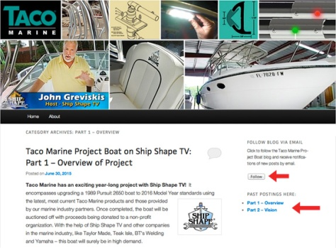 Taco Marine Ship Shape TV