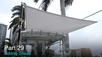 Adding Sunbrella shade to theTaco Marine Project Boat