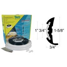Semi-Rigid Vinyl Rub Rail Kit with Flex Chrome Insert